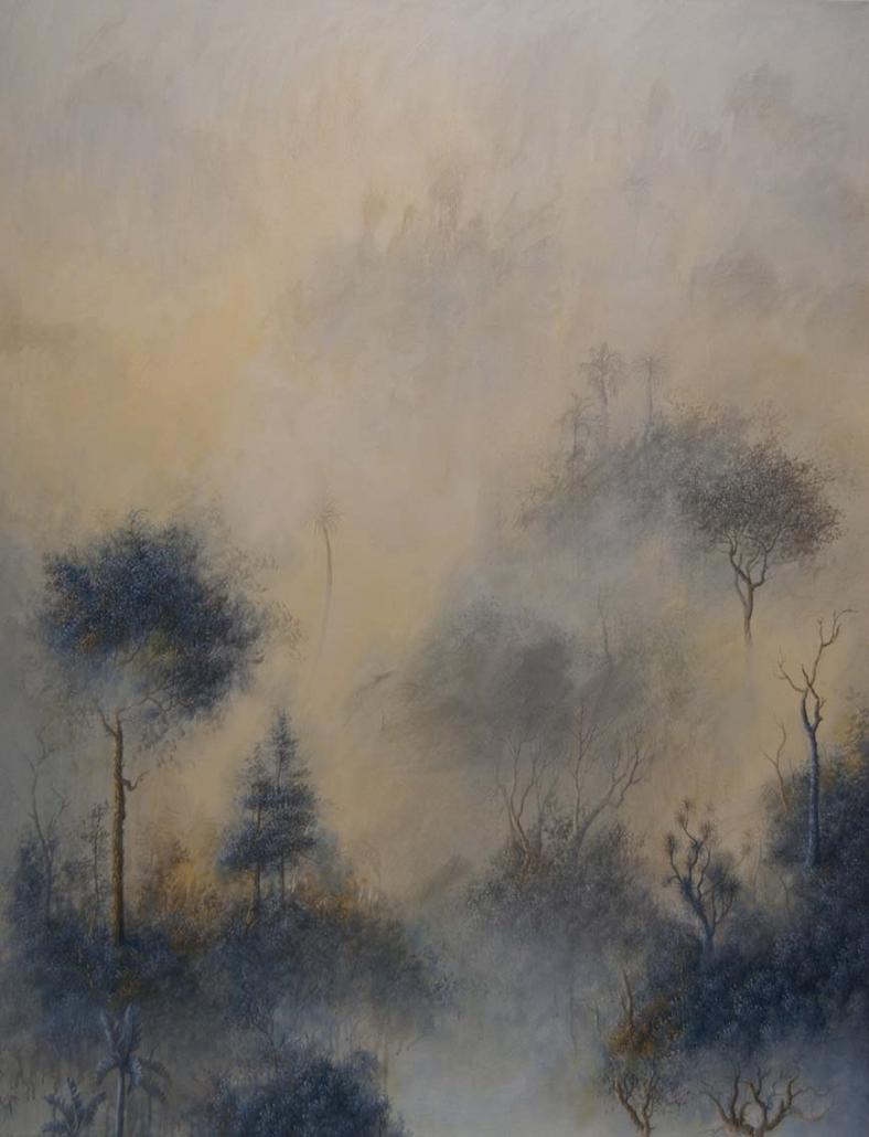 Amazonia, 10 Août 2020 - 146 x 114 cm - Huile et acrylique sur toile