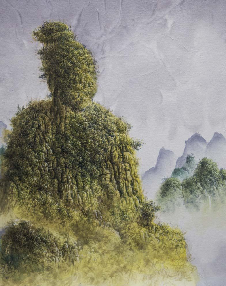 Empereur Jaune - 50 X 40 cm - encre et acrylique sur Papier chinois sur toile - 2018