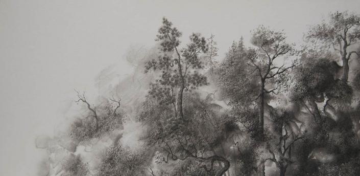 Ex nihilo - 40 x 80 cm - / papier Xuan marouflé sur toile, 2020