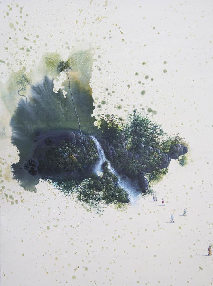 L oubli de nos origines - 74 x 54 cm - acrylique sur toile