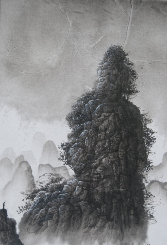 Prajnaparamita - 27 x 19 cm - Encre sur papier - Toile