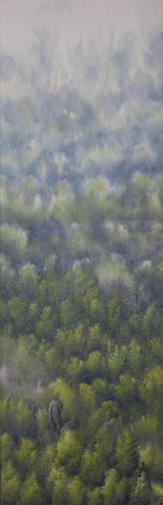 Début du voyage - 60 x 20 cm - / papier Washi marouflé sur toile