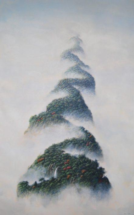 Montagne infinie - Acrylique sur toile - 120 x 60 cm - 2015