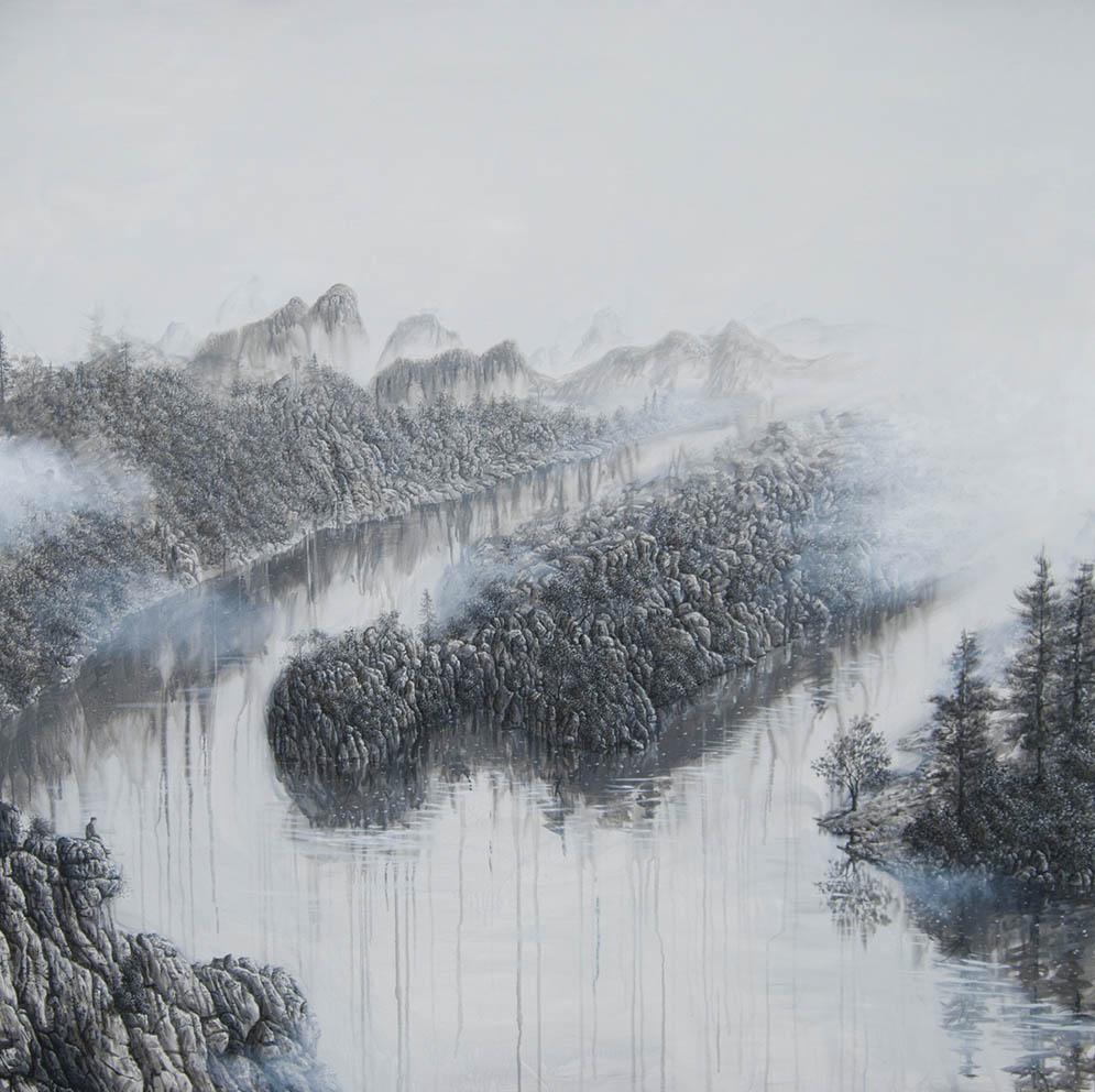 Contemplation de la mort d'un géant - Acrylique sur toile - 200 x 200 cm - 2019