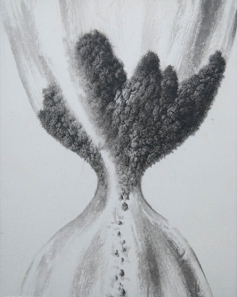 Allégorie - Encre et acrylique / papier Xuan marouflé sur toile - 24 X 19 cm - 2019/20