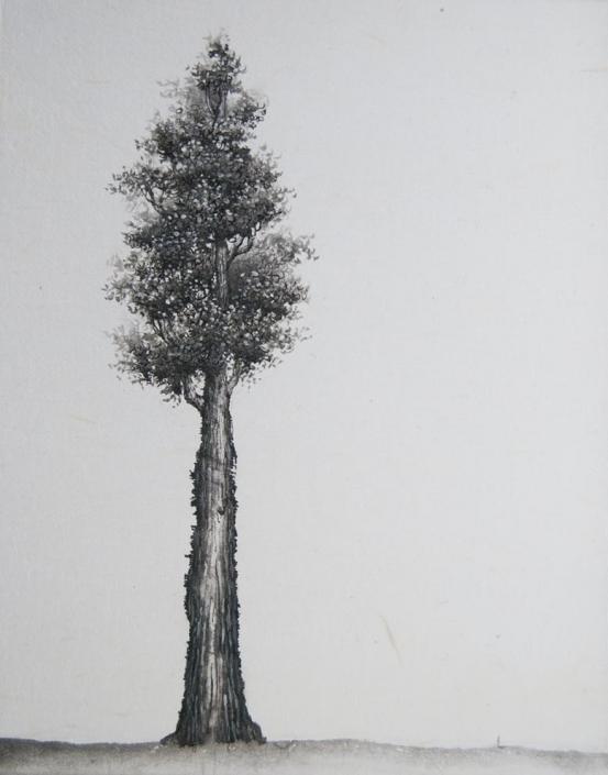 Conversation - Encre et acrylique / papier Xuan marouflé sur toile - 24 X 19 cm - 2019/20