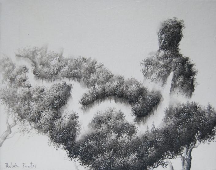 La transmission - 24 X 19 cm - 2019/20 - Encre sur papier Xuan marouflé sur toile