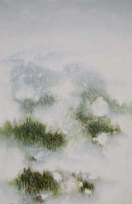 Respiration verte - 90 x 60 cm - Acrylique sur toile