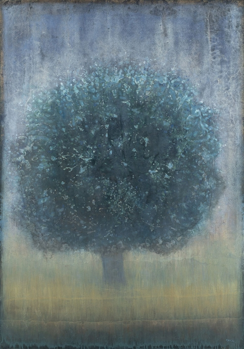 Arbre remarquable - 162 x 114 cm - Acrylique sur papier marouflé sur toile - Acrylic on paper / Canvas