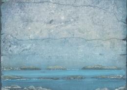 Archipel - 65 x 54 cm - Acrylique sur papier marouflé sur toile - 2020
