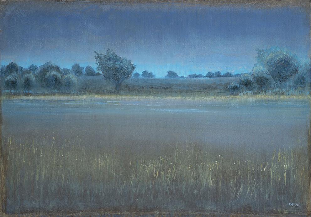 Avant la nuit - 81 x 116 cm - Acrylique sur papier marouflé sur toile - 2020