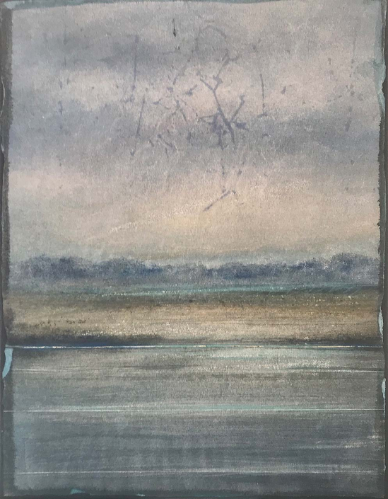 Bleu horizon - 35 x 27 cm