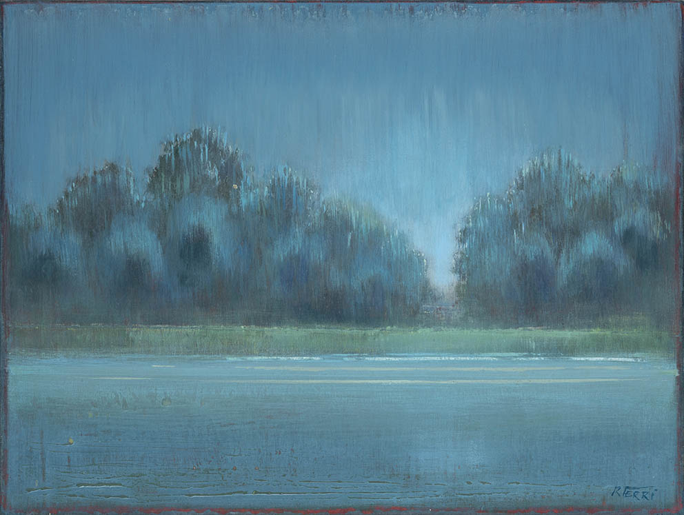 Bords de Seine - 41 x 61 cm - Acrylique sur papier marouflé sur toile - Acrylic on paper / Canvas