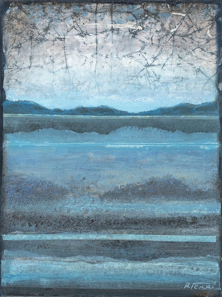 Contemplation - 40 x 30 cm - Acrylique sur papier marouflé sur toile - Acrylic on paper / Canvas