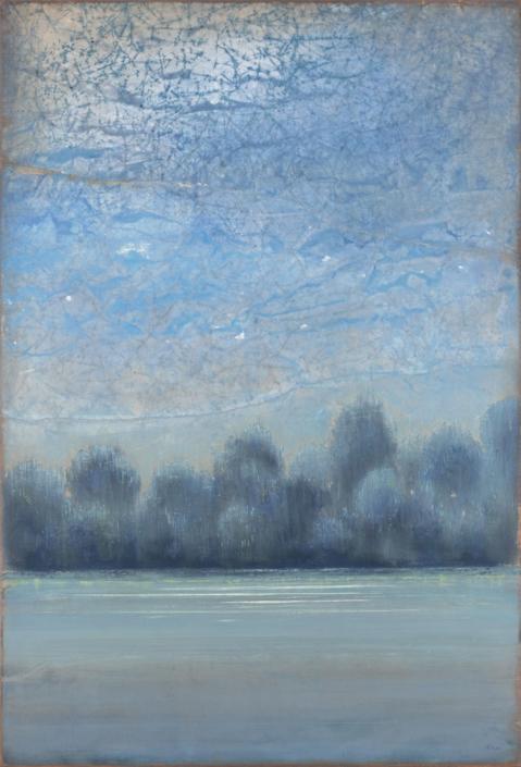 FERRI - Chemin de halage - 130 x 89 cm - acrylique sur papier sur toile