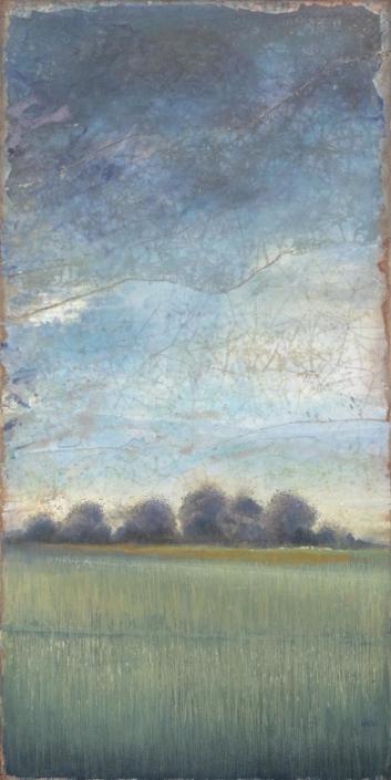 FERRI - Ciel d'email - 120 x 60 cm - acrylique sur papier sur toile
