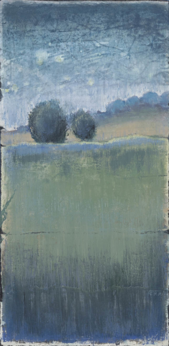 FERRI - Collines - 60 x 30 cm - acrylique sur papier sur toile