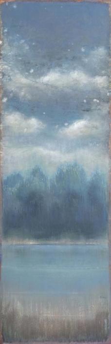 FERRI - Eau dormantes - 120 x 40 cm - acrylique sur papier sur toile