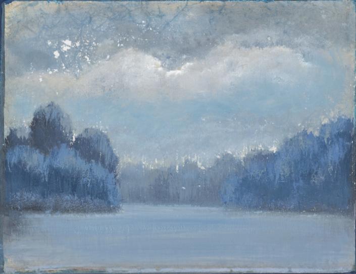FERRI - Entre les Iles - 27 x 35 cm - acrylique sur papier sur toile