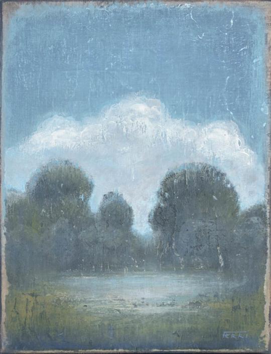 FERRI - La mare - 35 x 27 cm - acrylique sur papier sur toile