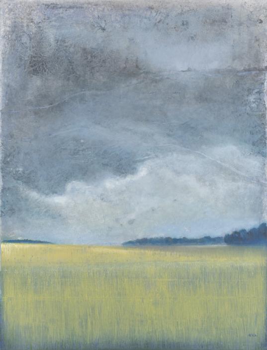 FERRI - La mer de blé - 116 x 89 cm - acrylique sur papier sur toile