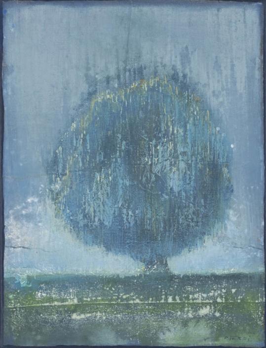 FERRI - Le solitaire - 35 x 27 cm - acrylique sur papier sur toile