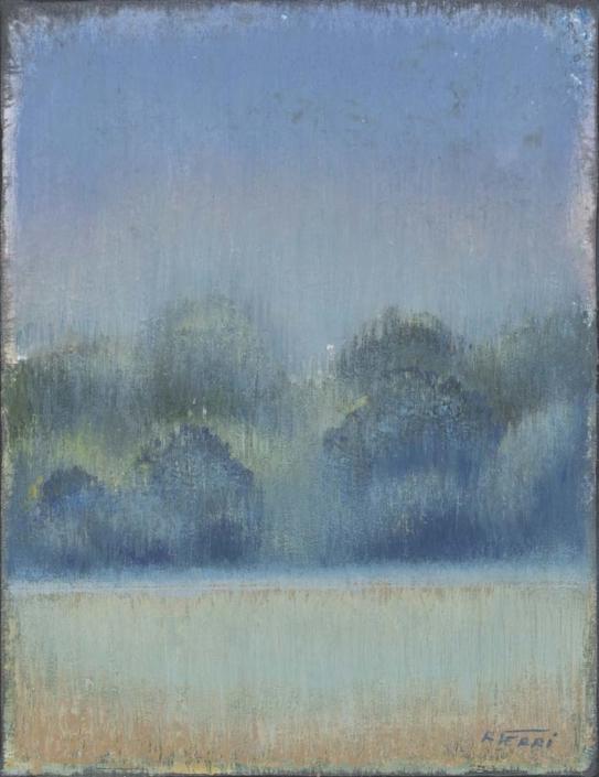 FERRI - Lisière - 35 x 27 cm - acrylique sur papier sur toile