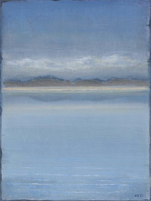 FERRI - Littoral - 61 x 46 cm - acrylique sur papier sur toile