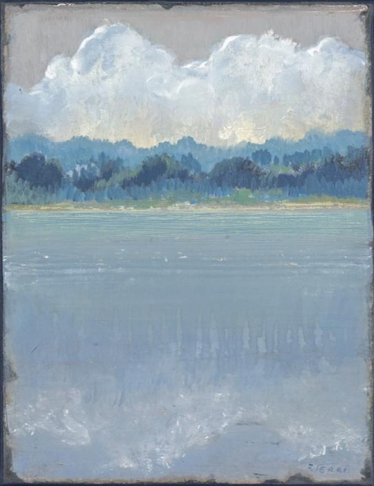 FERRI - Lueurs - 35 x 27 cm - acrylique sur papier sur toile