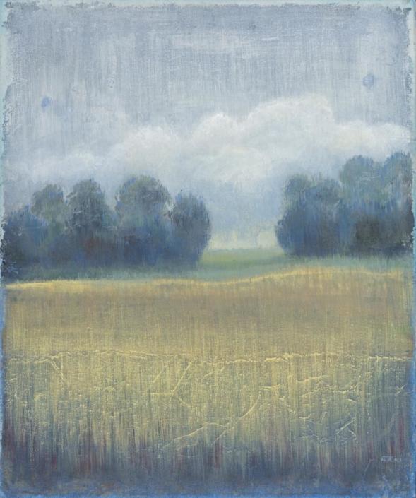 FERRI - Passage - 65 x 54 cm - acrylique sur papier sur toile
