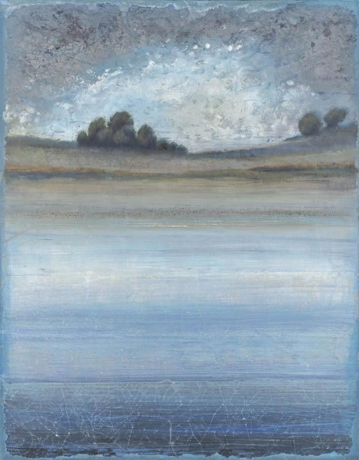 FERRI - Rivage d'Ocre - 146 x 114 cm - acrylique sur papier sur toile