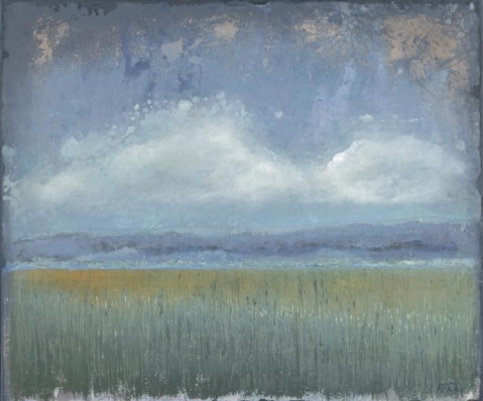 FERRI - Vexin - 46 x 55 cm - acrylique sur papier sur toile