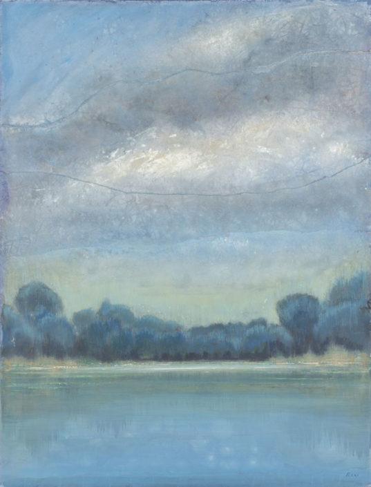 Ferri - Reserve naturelle - 116 x 89 cm- Acrylique sur papier sur toile