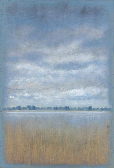 Ferri - Roseliere - 130 x 89 cm- Acrylique sur papier sur toile