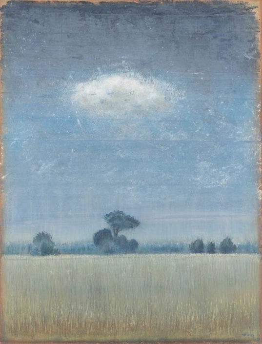 Ferri - la lande - 116 x 89 cm- Acrylique sur papier sur toile
