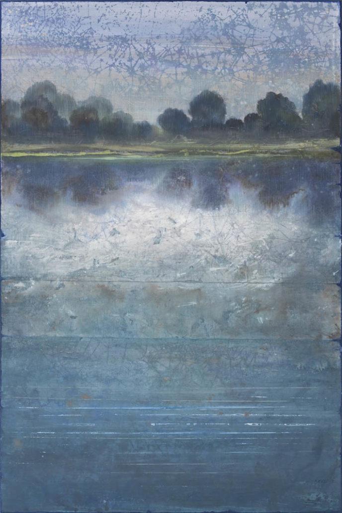 Ferri - le soir - 146 x 89 cm- Acrylique sur papier sur toile