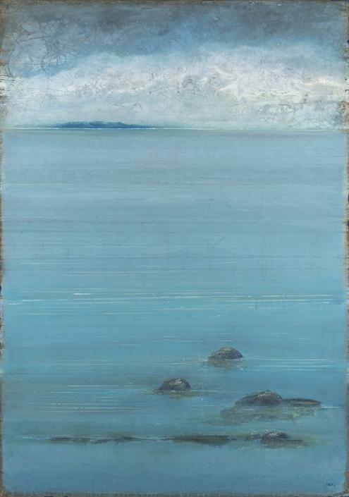 Haute mer - 162 x 114 cm - Acrylique sur papier marouflé sur toile - Acrylic on paper / Canvas