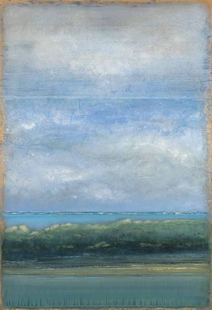Îles Chausey - 130 x 89 cm - Acrylique sur papier marouflé sur toile - Acrylic on paper / Canvas
