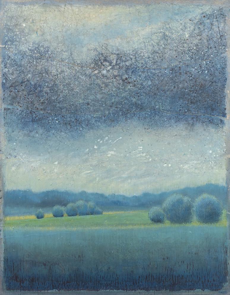 La plaine - 146 x 114 cm - Acrylique sur papier marouflé sur toile - Acrylic on paper / Canvas