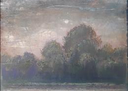 R.Ferri - L'automne - 42 X 33 cm - Acrylique sur papier marouflé sur toile