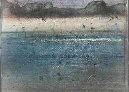 Les rochers - 30 x 24 cm