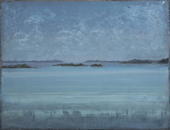 Matin calme - 89 x 116 cm - Acrylique sur papier marouflé sur toile - 2020