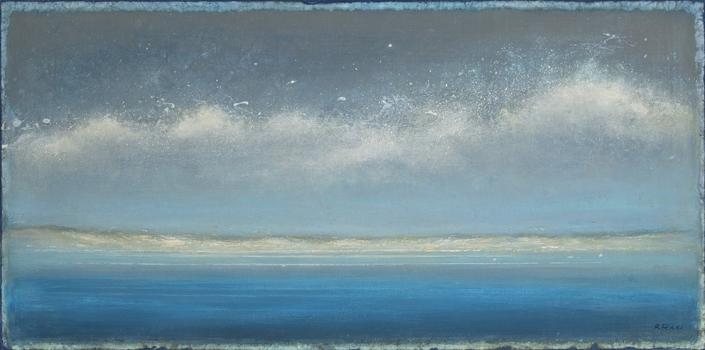 Mer - 50 x 100 cm - Acrylique sur papier marouflé sur toile - Acrylic on paper / Canvas