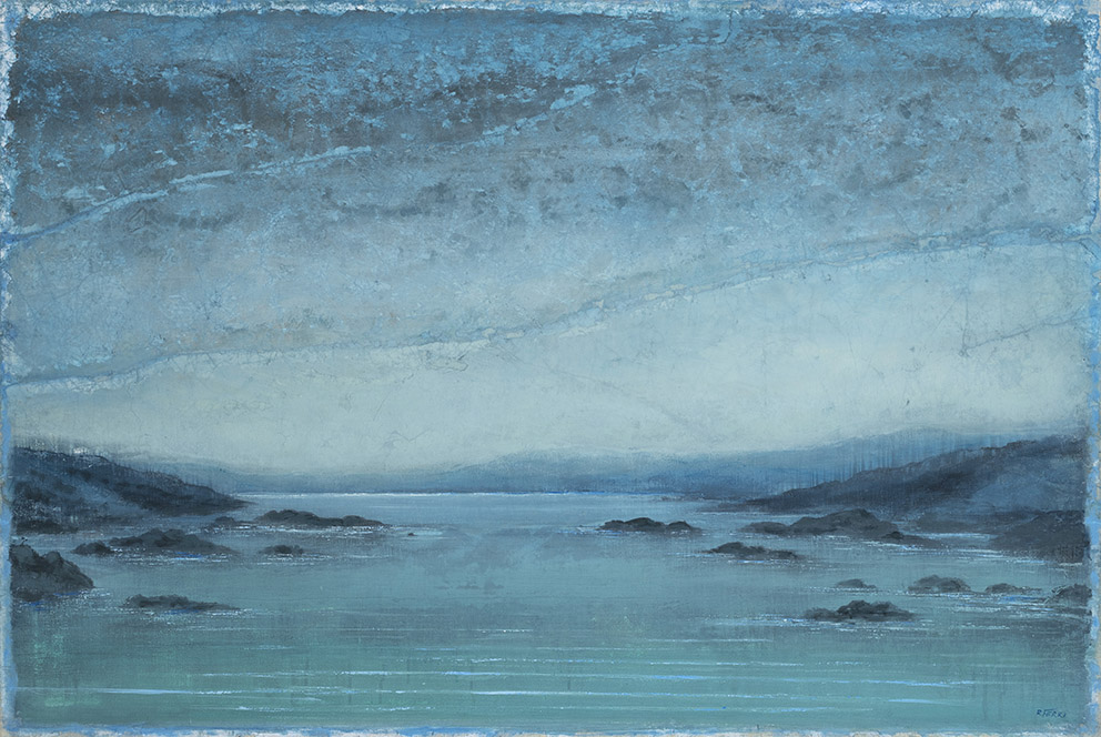 Passage nord - 81 x 120 cm - Acrylique sur papier marouflé sur toile - 2020