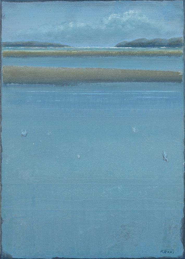 Plage sauvage - 65 x 46 cm - Acrylique sur papier marouflé sur toile - Acrylic on paper / Canvas