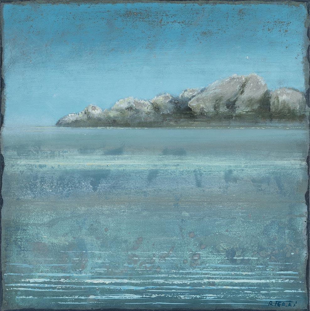 Pointe blanche - 40 x 40 cm - Acrylique sur papier marouflé sur toile - Acrylic on paper / Canvas