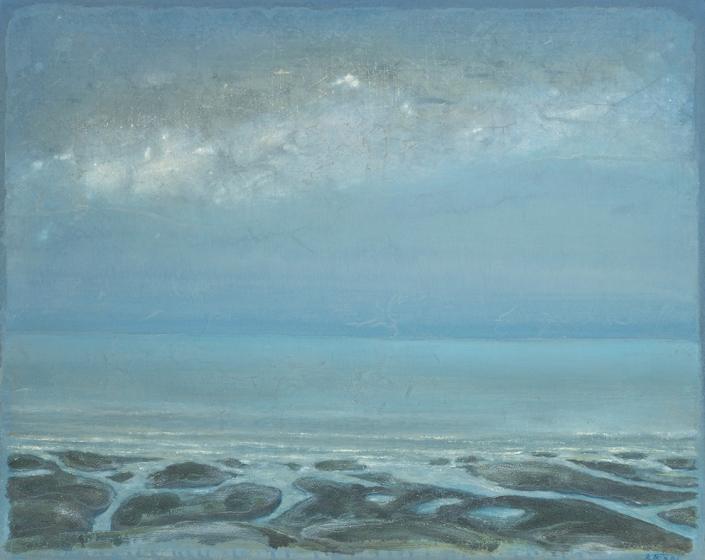 Près de Royan - 73 x 92 cm - Acrylique sur papier marouflé sur toile - Acrylic on paper / Canvas