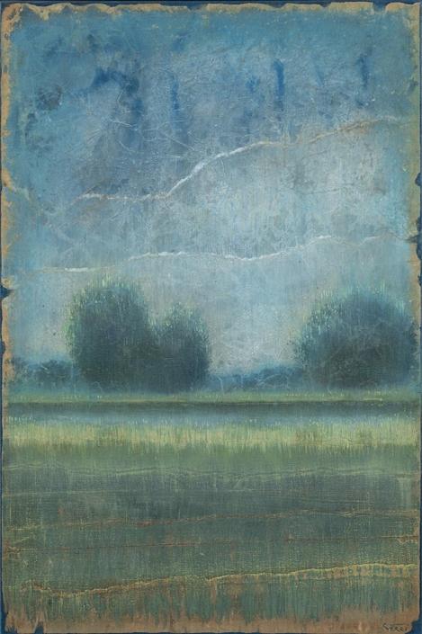 Saint-Estèphe - 81 x 54 cm - Acrylique sur papier marouflé sur toile - Acrylic on paper / Canvas