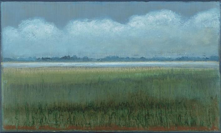 Saint Julien - 33 x 55 cm - Acrylique sur papier marouflé sur toile - Acrylic on paper / Canvas