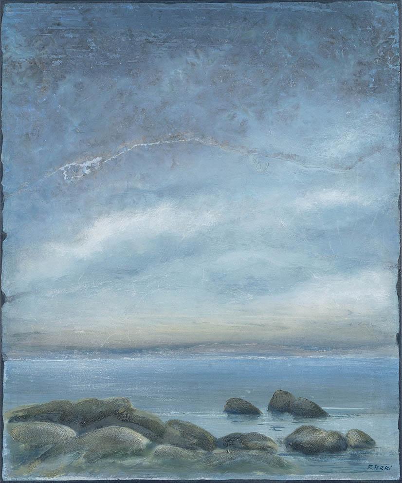 Sérénité - 65 x 54 cm - Acrylique sur papier marouflé sur toile - Acrylic on paper / Canvas